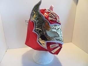 """Máscara de Luchador """"Sin Cara"""" Lucha Libre Color Rojo con Cremallera Para Niños"""