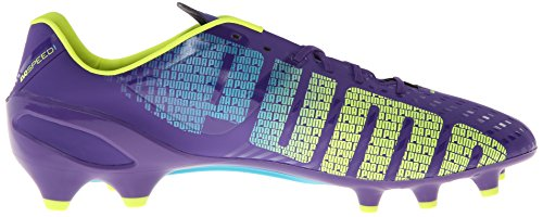 Puma Mens Evospeed 1.3 Fast Mark Fotbollsskor Prisma Violett / Fluro Gul / Scuba Blue
