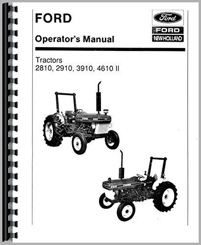 Amazon Com Ford 3910 Tractor Operators Manual 1987 1990