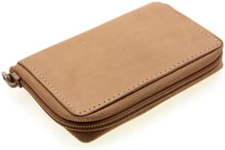 Paul & Taylor Genuine Leather Zip Around Credit Card Case