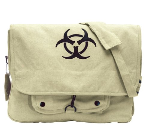 Bio-Hazard Vintage Messenger Bag