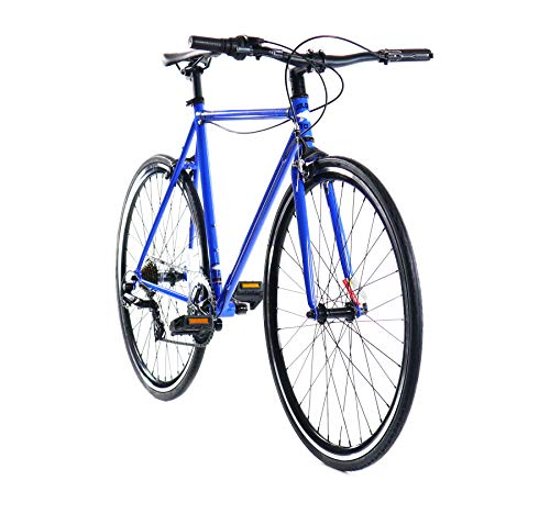 Golden Cycles Velo-7 Hybrid Bicycle, 7 Speed with Front & Rear Brake