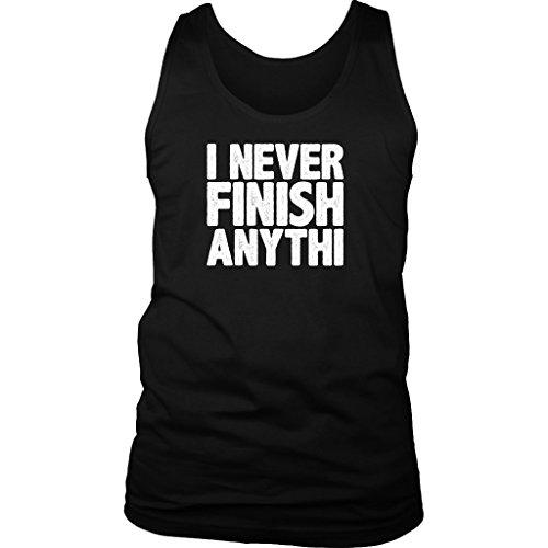 VigorDesign I Never Finish Anything - Funny Lazy Men Tank (Girl From Lazy Town)
