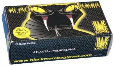 Black Mamba 6.25 mil Nitrile Glove-Black X-Large BLK130