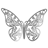 Rendodon♚ 12PCS Butterfly Mirror Decoration Home Room Art 3D DIY Wall Stickers Living Room, Bedroom, Home, Office and so on (B)
