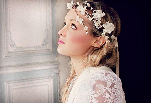 Amazoncom Flower Crown Wedding Flower Crown Wedding headband