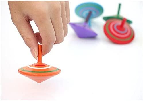GoodPlay Gyroscope, 3 Pcs/Set Handmade Painted Wood Spinning Tops, Wooden Toys Educational Toys Kindergarten Toys Standard Tops