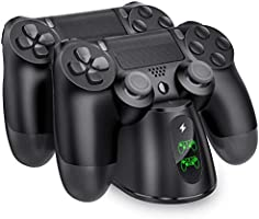 PS4 Controller Charger, BEBONCOOL PS4 Wireless Charger Dual USB Fast Charging for Sony Playstation 4/PS4/ Pro /PS4 Slim...
