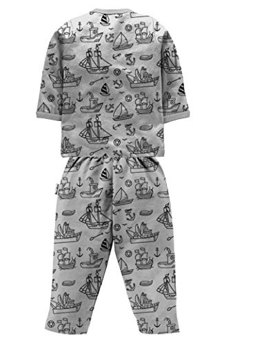 NammaBaby Cotton Front Open Full Sleeves Night Suit for Infant