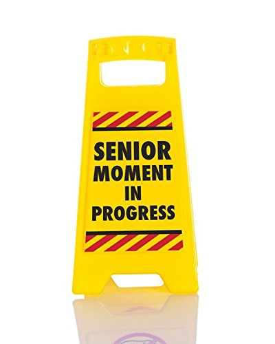 Boxer Gifts Desk Warning Sign - Senior Moment One Yellow