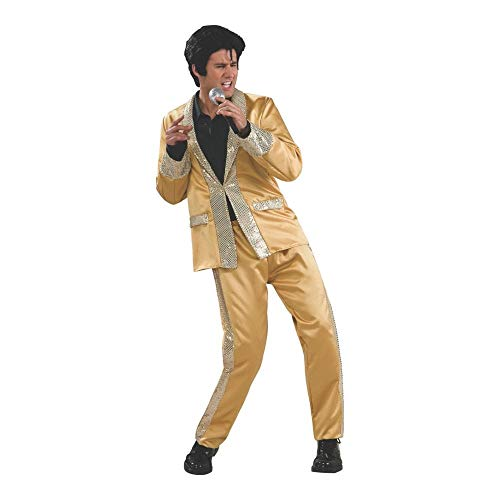 Adult Deluxe Elvis Gold Satin (Suit) Costume -