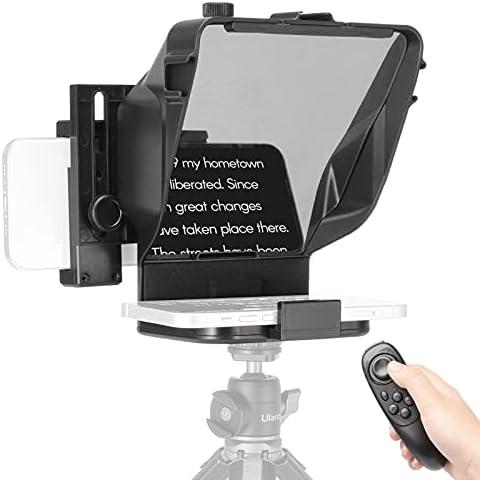 Teleprompter Portable Compatible con teléfono móvil Teleprompter para Cámaras, teleprompter artefacto video con mando, para Youtube Tiktok Facebook Video Transmisión en vivo ( Color : For phone only )