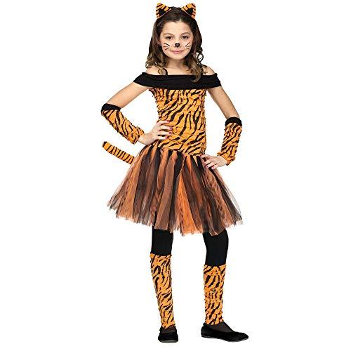 Fun World Tigress Costume, Medium 8 - 10, Multicolor ()
