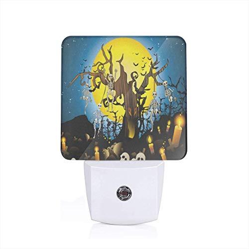 Halloween Skeleton On Tree Branches Plug-in Night Light Warm White LED Nightlight with Auto Dusk to Dawn Sensor, Perfect for Kids Room, Hallway, Bedroom, Kitchen, Bathroom]()