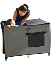 SnoozeShade Pack N Play Blackout Travel Crib Canopy Cover and Tent | Breathable Net Sleep Shade | Blocks 94% of Light | Award-Winning British Design