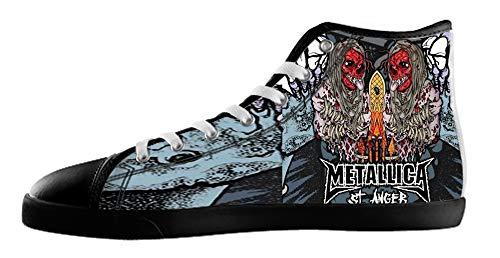 Groupe De Rock Des Hommes Style Haut Chaussures En Toile Pour Les Black1