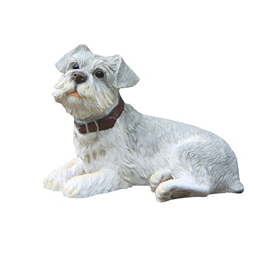 Non-Branded Sitting Schnauzer Resin Dog Sculpture Handicarft Collectible ()