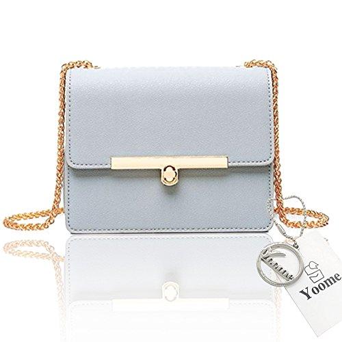 Yoome Street Style Flap Bolsa Elegante Pequeña Cadena Pequeñas Bolsas Para Mujeres Nuevas Chic Bolsas Impermeable - Negro Gris azul