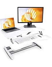 Standing Desk with Height Adjustable – FEZIBO Stand Up Desk Converter