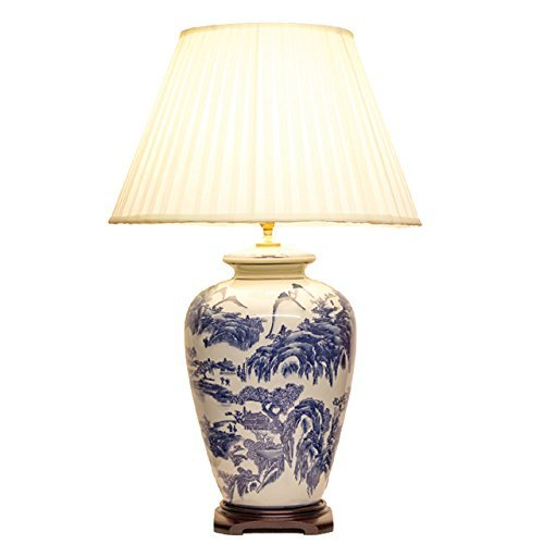 Willow pattern chinese table lamp pair amazon lighting willow pattern chinese table lamp pair aloadofball Choice Image