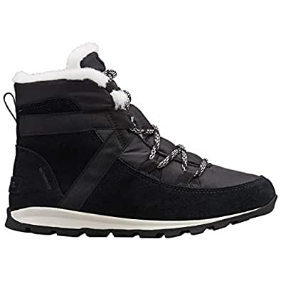 Sorel Womens Whitney Flurry Warm Winter Lace Up Outdoor Ankle Snow Boots - Black - 5