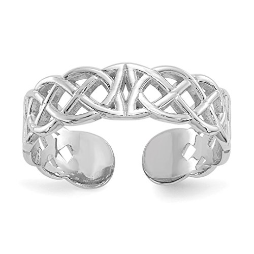 Crystals Wrap Toe Ring - 14k White Gold Design Adjustable Cute Toe Ring Set Fine Jewelry For Women Gift Set