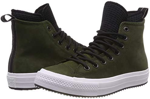 rumor Método Pigmalión  Converse Unisex Adults' Chuck Taylor All Star Wp Boot Hi-Top Trainers,  Green (Utility Green/Black/White 316), 4 UK: Amazon.co.uk: Shoes & Bags