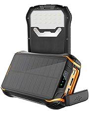 Solar Powerbank 26800mAh Wasserdichte Solar Ladegerät mit 2 Eingangsports und 3 Ausgängen, Soluser Solarenergiebank Externe Batterie Solar Power Bank für Smartphones, Handys, Outdoor Aktivitäten