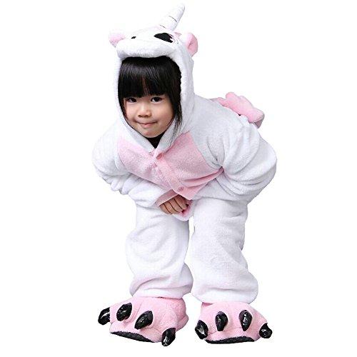[Joyci Unisex Children Animal Pajamas Kigurumi Sleepwear Costumes Pyjamas Cosplay for Hallowmas (Children height 130-140 cm, Unicorn] (Creative Cow Costumes)