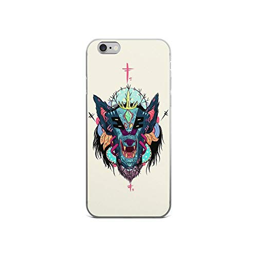 iPhone 6/6s Pure Clear Case Cases Cover Shape Wolf Japan Mask Folk Abstract Painting ()