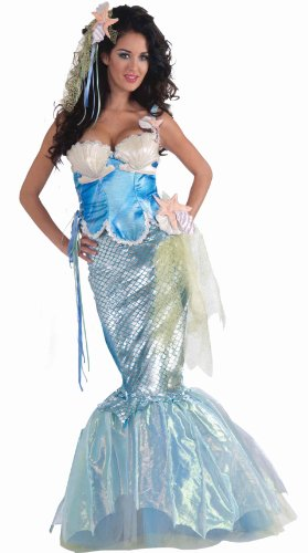 [Forum Novelties Women's Deluxe Adult Mermaid Costume, Multi, Medium/Large] (Deluxe Adult Sexy Mermaid Costumes)