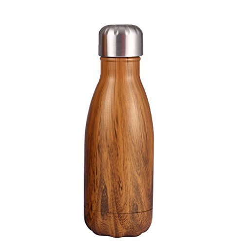 Geek-House 8.8oz Double Wall Vacuum Insulated Stainless Steel Sport Water Bottle Teak ()