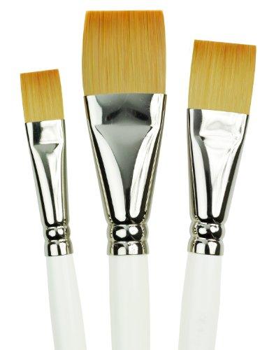 Royal Gold Royal and Langnickel Short Handle Paint Brush Set, Glaze Wash, 3-Piece