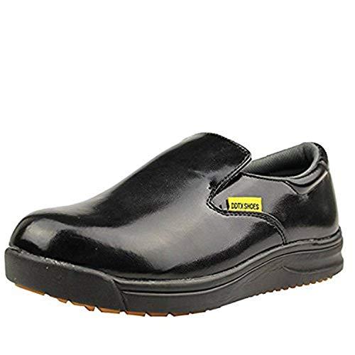 DDTX Men's Slip and Oil Resistant Slip-on Work Shoes Black(11)