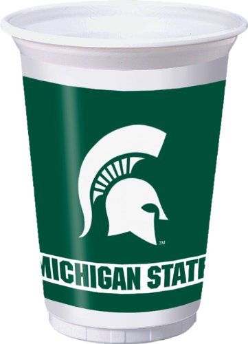 Michigan State Spartans 20 oz. Plastic Cups, (Tailgate Decor)
