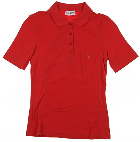 new-womens-golfino-golf-wicking-pique-polo-x-small-xs-red-ss