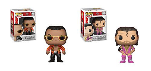 Funko POP! WWE: The Rock Funko POP and Razor Ramon Funko POP Toy Action Figure - 2 POP BUNDLE by Funko