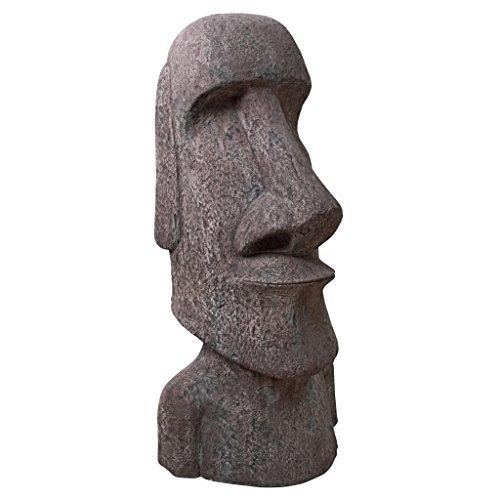 Design Toscano Easter Island AHU Akivi Moai Monolith Garden Statue, Giant 72 Inch, Fiberglass Polyresin, Grey -