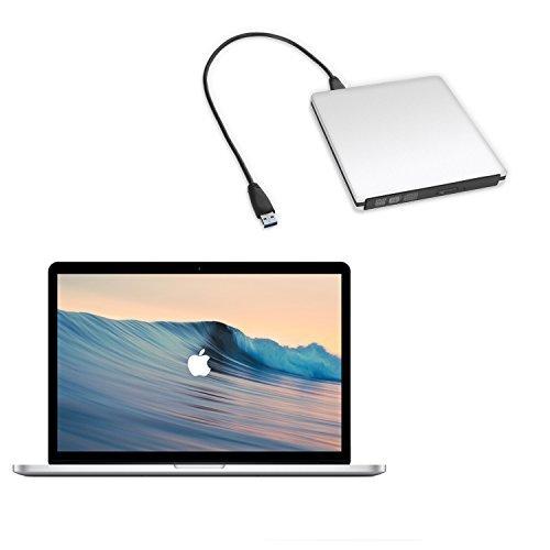 LeeKooLuu USB 3.0 External Ultra Slim DVD Burner Drive Aluminium DVD-RW/CD-RW Burner Super Drive (Silvery) (USB 3.0 Slivery) by LeeKooLuu (Image #7)