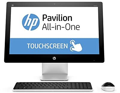 "HP Pavilion 23"" Full-HD IPS Touchscreen All-in-One Desktop Computer, AMD Quad-Core A6-7310 2.0GHz, 8GB RAM, 1TB HDD, USB 3.0, DVDRW, HDMI, 802.11ac, Bluetooth, Windows 10 (Certified Refurbished)"
