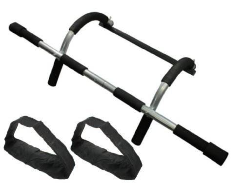 Wacces 3 in 1 Fitness Exercise Door Chin Pull Push Sit up Bar + Bonus Ab Strap