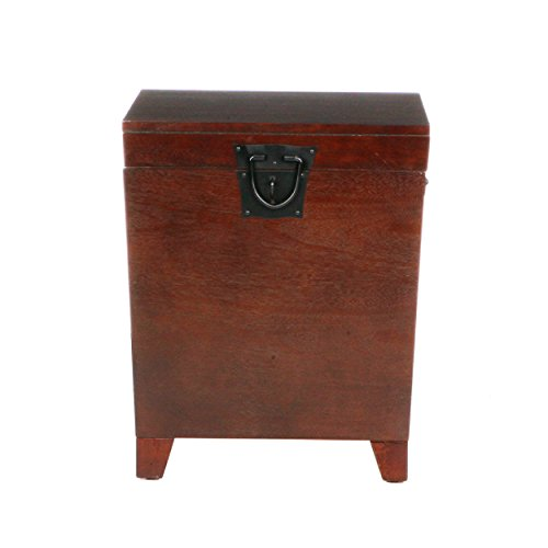 Southern Enterprises Pyramid Storage Trunk End Table, Espresso -