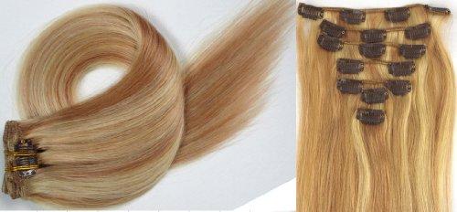 World Pride Модные прямой зажим в наращивание волос 15 дюймов 70 грамм № 18/613 Mix