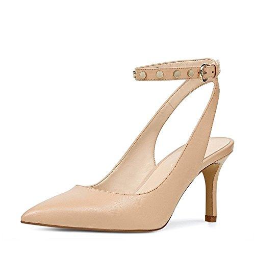 Andres Machado - Femmes Slingback Ballerines - Chaussures Noires En Extra Large - Noir - 45 Eu qBsx1