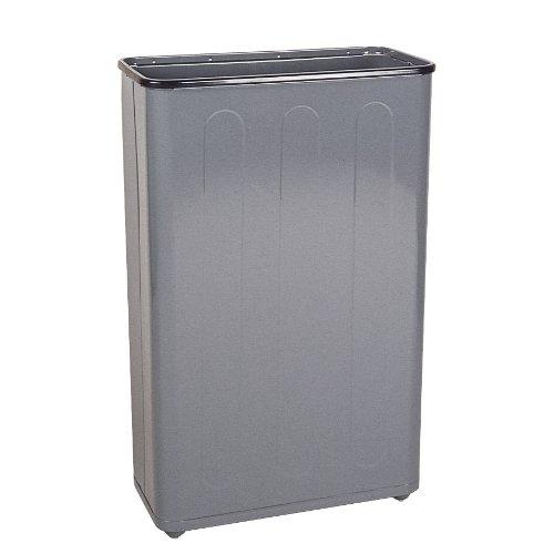 Ada Rectangular Wastebasket - Rubbermaid Commercial FGWB96RGR Steel Open-Top Waste Basket, Rectangular, 96-gallon, Green