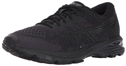 ASICS Women's GT-1000 6 Running-Shoes, Black/Black/Silver, 9 Medium US