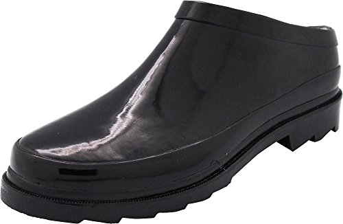 NORTY - Womens Waterproof Rain and Garden Clog Shoe, Black 40680-6B(M) US