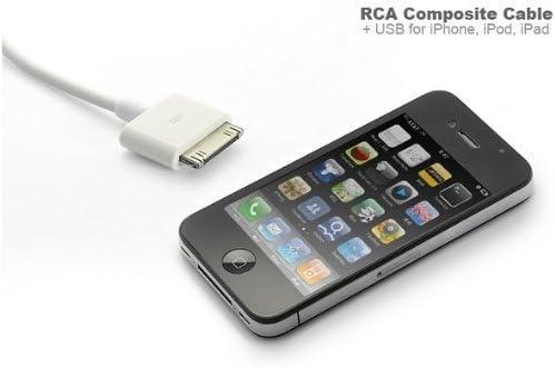 Extremdeal a TV Cable adaptador de vídeo RCA Cable USB para Apple iphone 4 4s 3GS 3 G ipad 2,3 iPod Touch Nano: Amazon.es: Electrónica
