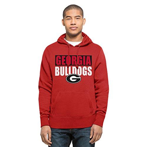 NCAA Georgia Bulldogs Men's Headline Pullover Hoodie, Medium, Red