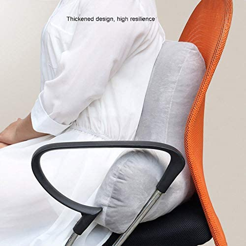 Red//Coffee Back Spinal Support Pillow Lounger Bed Rest Arm Stable Backrest Seat